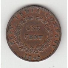 1 цент, Ост-Индская Компания, 1845