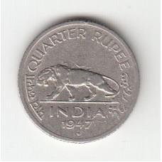 1/4 рупии, Британская Индия, 1947