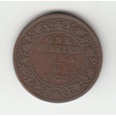 1/4 анны, Британская Индия, 1928