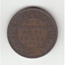 1/4 анны, Британская Индия, 1914