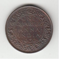 1/4 анны, Британская Индия, 1939