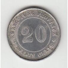 20 центов, Китай (Квантунг), 1921