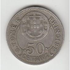 50 сентаво, Сан-Томе и Принсипи, 1929
