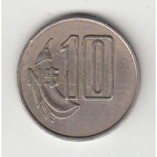 10 новых песо, Уругвай, 1981