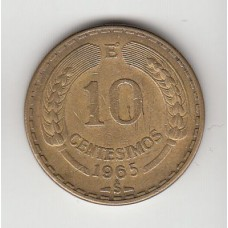 10 сентесимо, Чили, 1965