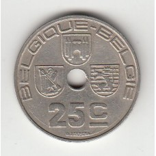 25 сантимов, Бельгия, 1939