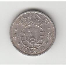10 эскудо, Португальская Гвинея, 1952