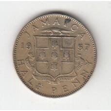 1/2 пенни, Ямайка, 1957