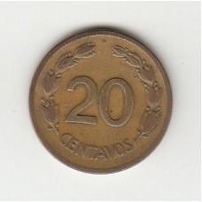 20 сентаво, Эквадор, 1944