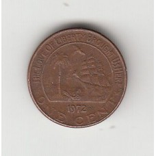 1 цент, Либерия, 1972