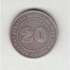 20 центов, Стрейтс-Сеттльментс, 1926