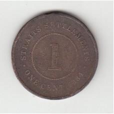 1 цент, Стрейтс-Сеттльментс, 1884