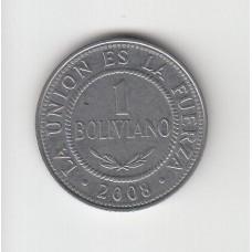 1 боливиано, Боливия, 2008