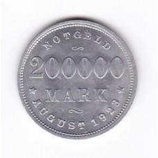 200000 марок, нотгельд, Гамбург, Германия, 1923