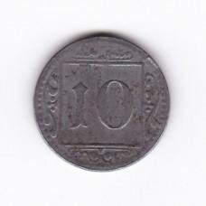 10 пфеннигов, нотгельд, Мюнстер, Германия, 1918