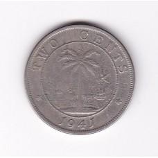 2 цента, Либерия, 1941