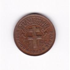 1 франк, Камерун, 1943