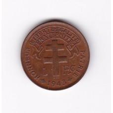 1 франк, Французский Камерун, 1943