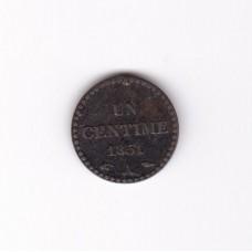 1 сантим, Франция, 1851
