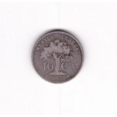 10 сентаво, Коста-Рика, 1865