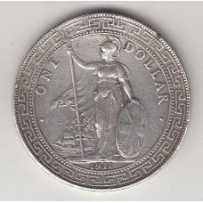 1 торговый доллар, Великобритания, 1911