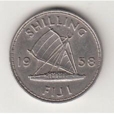1 шиллинг, Фиджи, 1958