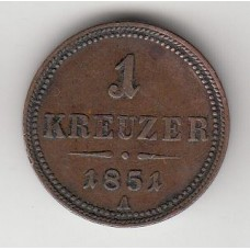 1 крейцер, Австрия, 1851