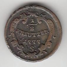 1/2 крейцера, Австрия, 1777