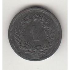 монета 1 сантим, Швейцария, 1946год , стоимость , цена