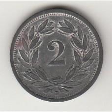 монета 2 сантима, Швейцария, 1945год , стоимость , цена