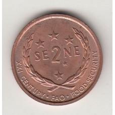 монета 2 сене, Самоа, 2000год , стоимость , цена