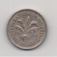 1 шиллинг, Нигерия, 1959