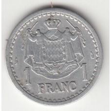 1 франк. Монако, 1943