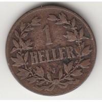 1 геллер, Германская Восточная Африка, 1911