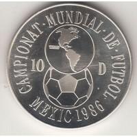 10 динеров, Андорра, 1986