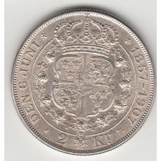 2 кроны, Швеция, 1907
