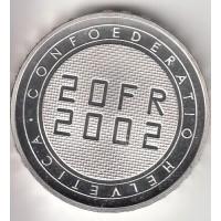 20 франков, Швейцария, 2002