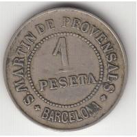 1 песета, Барселона, Испания, 1907