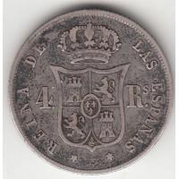 4 реала, Испания, 1858