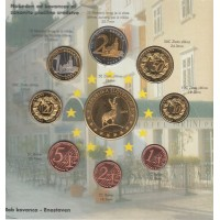 набор евромонет, проба, Словения, 2004