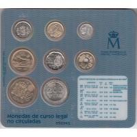 1-500 песет (8 монет), 2000-2002 гг.