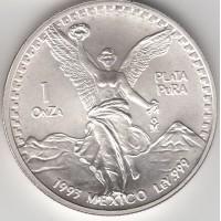 1 унция серебра, Мексика, 1993