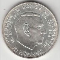 10 серебряных крон. Дания, 1972