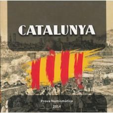 пробный набор евромонет, Каталония, 2014