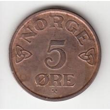 5 эре, Норвегия, 1953