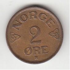 2 эре, Норвегия, 1956