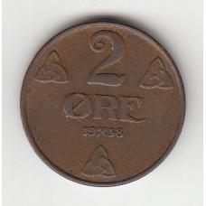 2 эре, Норвегия, 1938