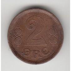 2 эре, Дания, 1916