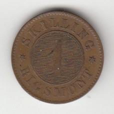 1 скиллинг, Дания, 1956