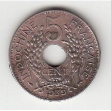 5 центов, Французский Индокитай, 1939
